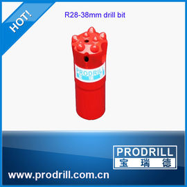 China R28 38mm 7 buttons ballistic thread bits for mining supplier