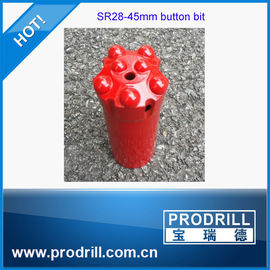 China rock drilling tools SR28 45mm 7buttons standard body tungsten carbide for quarry supplier