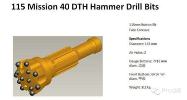 China DTH Bit MISSION40-115mm supplier
