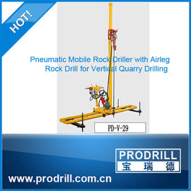 China Pneumatic Mobile Rock Driller for Vertical Drilling supplier