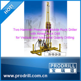 China Pneumatic Mobile Rock Driller for Vertical and Horizontal Quarrying supplier