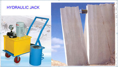 China Hydraulic pressure 100T-300T position stroke 200mm hydraulic pushing jack for quarry block splitting supplier