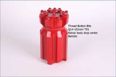 China Q14-102mm  T51 Retrac  Thread Button Bits distributor