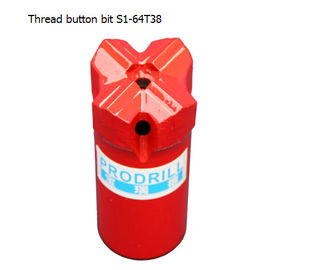 China S1-64 T38  Thread Button Bits with good quality distributor