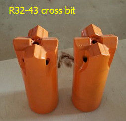 China R32 43 cross bit Tapered Button Bit for quarrying distributor