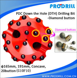 China Diamond DTH bit with 16mm PDC bit distributor